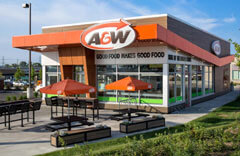 A photograph of the original A&W restaurant.